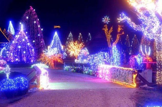 Dekorasi Natal Indah Dari Lampu di Kroasia