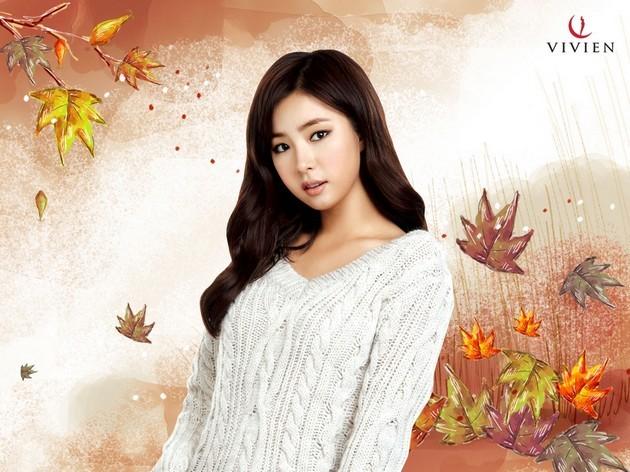 Foto Shin Se Kyung Menjadi Model di Katalog Fashion Vivien