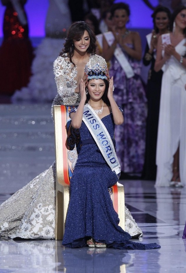 Foto Miss World 2012 Yu Wenxia