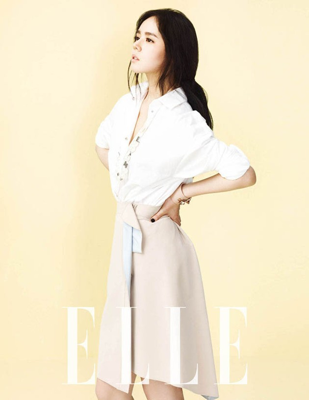 Foto Han Ga In di Majalah Elle Edisi April 2013