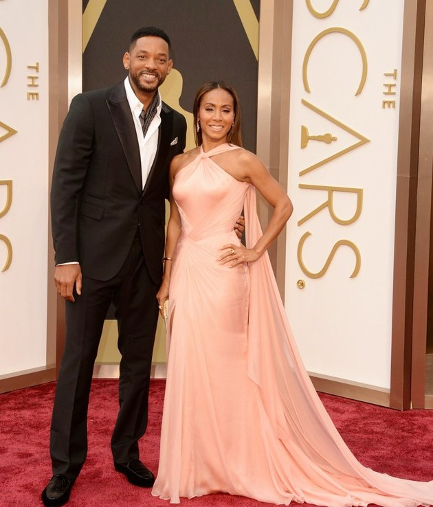 Foto Will Smith dan Jada Pinkett Smith di Red Carpet Oscar 2014