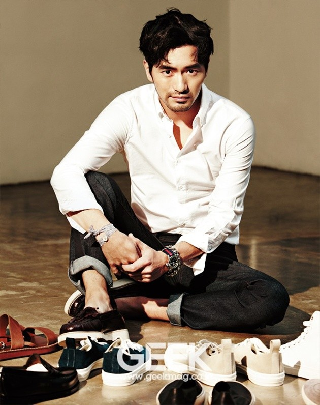 Foto Lee Jin Wook di Majalah Geek Edisi April 2014