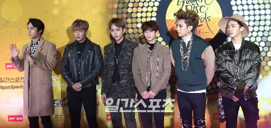 Foto Beast di Red Carpet Golden Disk Awards 2015