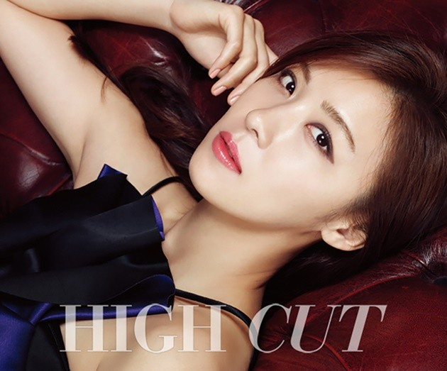 Foto Ha Ji Won di Majalah High Cut Vol. 154