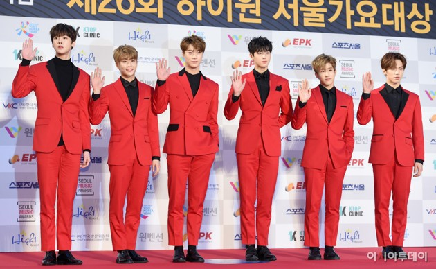 Foto ASTRO di Red Carpet Seoul Music Awards 2017