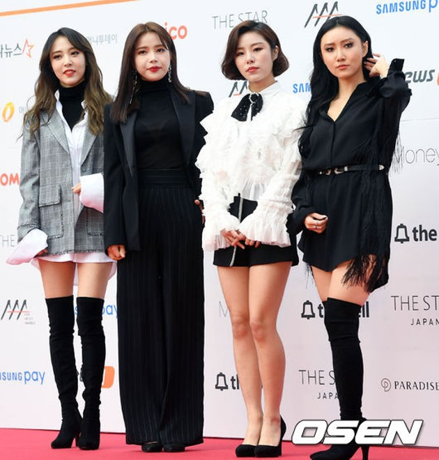 Foto Mamamoo di Red Carpet Asia Artist Awards 2017