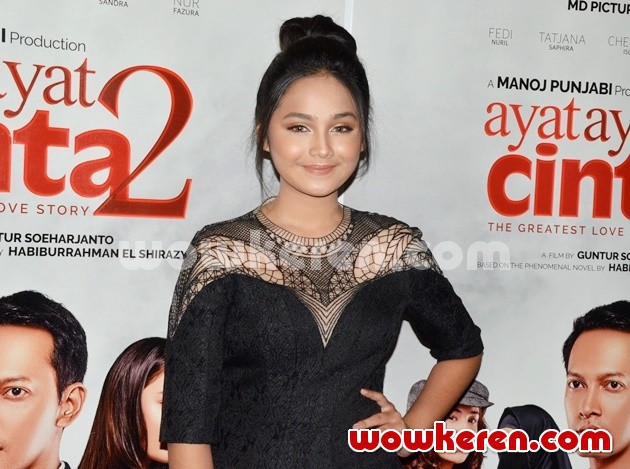 Foto Syifa Hadju di Press Screening Film 'Ayat-ayat Cinta 2'