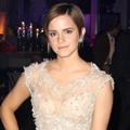 Emma Watson di pesta perayaan Harry Potter and the Deathly Hallows Part II di London