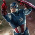 Concept Art dari Poster Film 'The Avengers' : Captain America