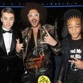 Justin Bieber, RedFoo (LMFAO) dan Jaden Smith