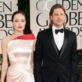 Angelina Jolie dan Brad Pitt di Red Carpet Golden Globes 2012