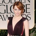 Emma Stone di Red Carpet Golden Globes 2012