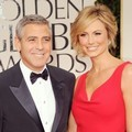 George Clooney dan Stacy Keibler di Red Carpet Golden Globes 2012