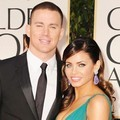 Channing Tatum dan Jenna Dewan di Red Carpet Golden Globes 2012