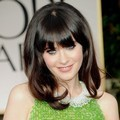 Zooey Deschanel di Red Carpet Golden Globes 2012