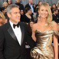 George Clooney dan Stacy Keibler di Red Carpet Oscar 2012