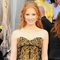 Jessica Chastain di Red Carpet Oscar 2012