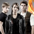 Josh Hutcherson, Liam Hemsworth, Jennifer Lawrence di Poster 'The Hunger Games'