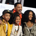 Jaden Smith, Willow Smith, Will Smith, Jada Pinkett Smith di Premier Justin Bieber: Never Say Never
