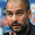 Pep Guardiola di News Conference Champions League