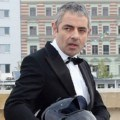 Rowan Atkinson saat promote 'Johnny English Reborn'