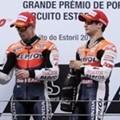 Jorge Lorenzo, Casey Stoner dan Dani Pedrosa Merayakan Kemenangan