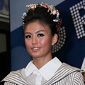 Agnes Monica di Konferensi Pers Grand Final 'Indonesian Idol'