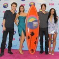 Paul Wesley, Nina Dobrev, Ian Somerhalder dan Katerina Graham di Teen Choice Awards 2012