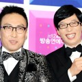 Park Myung Soo dan Yoo Jae Seok di Red Carpet MBC Entertainment Awards 2012