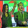 Sandra Bullock dan Neil Patrick Harris Tersiram Slime Kids Choice Awards 2013