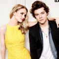Rosie Huntington-Whiteley dan Harry Styles One Direction di Majalah Glamour Edisi Agustus 2013