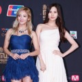 Hyoyeon dan Seohyun Girls' Generation di Red Carpet MAMA 2013