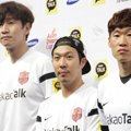 Lee Kwang Soo, Haha dan Park Ji-Sung di Jumpa Pers Asian Dream Cup 2014