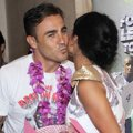 Fabio Cannavaro dan Julia Perez Saat Jumpa Pers Football Legend Tour 2014