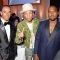 Lewis Hamilton, Pharrell Williams dan Kanye West di GQ Men of The Year Awards 2014