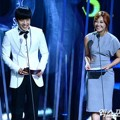 Kang Ha Neul dan Eun Ji A Pink di Seoul International Drama Awards 2014