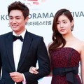 Oh Sang Jin dan Kang Sora di Red Carpet Korea Drama Awards 2014