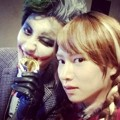 Chanyeol EXO dan Kim Heechul Super Junior di Pesta Halloween SM Entertainment