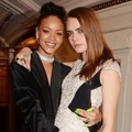 Rihanna dan Cara Delevingne di British Fashion Awards 2014