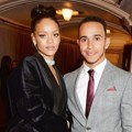 Rihanna dan Lewis Hamilton di British Fashion Awards 2014