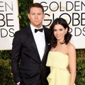 Channing Tatum dan Jenna Dewan di Red Carpet Golden Globe Awards 2015