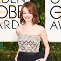 Emma Stone di Red Carpet Golden Globe Awards 2015