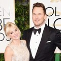 Anna Faris dan Chris Pratt di Red Carpet Golden Globe Awards 2015