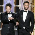Paul Rudd dan Adam Levine di Golden Globe Awards 2015