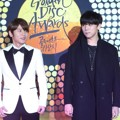 K.Will dan JungGiGo di Red Carpet Golden Disk Awards 2015