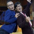 Sule dan Andre Taulany di Press Conference 'Ini Talkshow'
