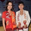 Julie Estelle dan Julia Perez di Acara Jumpa Pers AS Roma Day 2015