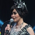 Gracia Indri di HUT Global TV ke-13