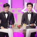 Yoo Jae Seok dan Kwanghee ZE:A di MBC Entertainment Awards 2015