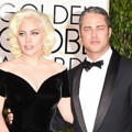 Lady GaGa dan Taylor Kinney di Red Carpet Golden Globes Awards 2016